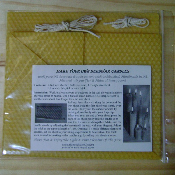 make your own beeswax candle